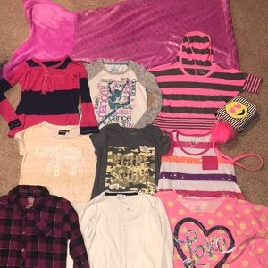 Bundle of girls size 8 tops mostly Justice